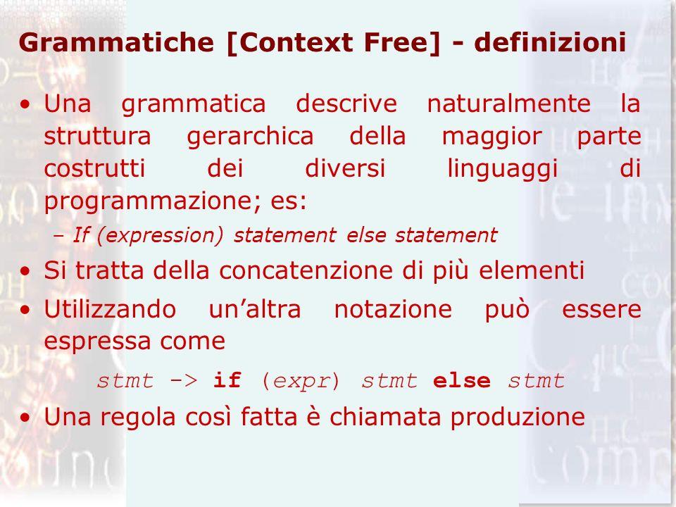 Grammatiche [Context Free] - definizioni